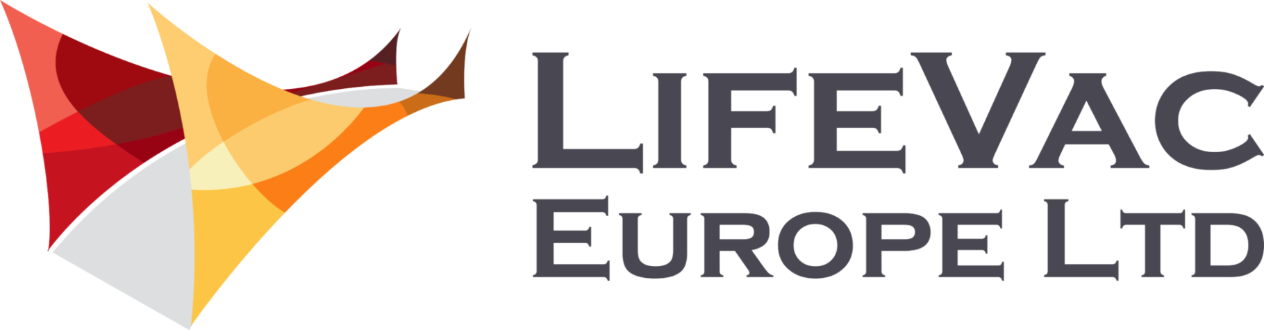 LifeVac Europe in large bold grey text and the red and yellow company logo